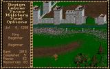 Castles Amiga An enemy siege weapon comes at the castle through the woods.
