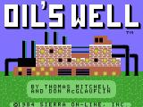 Oil's Well ColecoVision Title screen