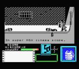 Death Wish 3 MSX Starting screen. The title and credits scroll by.