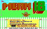 Mean 18 DOS Title Screen (EGA)