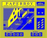 Paperboy BBC Micro Crashing into a road worker