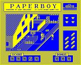 Paperboy BBC Micro Throwing a paper