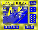 Paperboy BBC Micro Trying not to hit the football