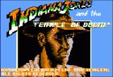 Indiana Jones and the Temple of Doom Apple II Title