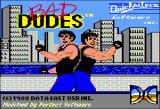Bad Dudes Apple II Title