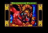 Dragons of Flame Amstrad CPC Title and loading screen