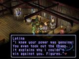 Xenogears PlayStation Talking to Latina in a bar