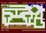 Cops n' Robbers Atari 8-bit Start of the game