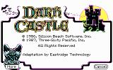 Dark Castle DOS Dark Castle - Help Screen