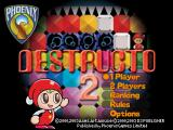 Destructo 2 PlayStation Main menu