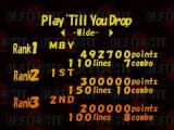 Destructo 2 PlayStation High scores table