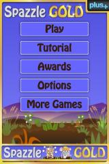 Spazzle Gold iPhone Main Menu