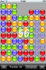 reMovem iPhone Removing the blue balls will net me 56 points.