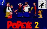 Popeye 2 DOS Title screen.