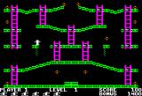 Jumpman Apple II Gameplay on the first level