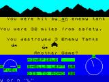 3D Desert Patrol ZX Spectrum Destroyed by an enemy tank.
