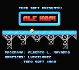 Ale Hop! MSX Title screen and credits