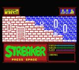 Streaker MSX Title screen and starting location