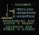 Nonamed MSX Main menu and credits