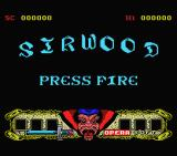 Sirwood MSX Title screen
