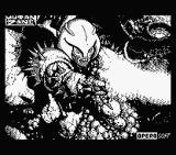 Mutan Zone MSX Title screen