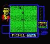 "Michel Futbol Master + Super Skills MSX I need to dribble around these ""opponents""."