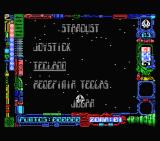 Star Dust MSX Title and main menu