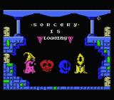 Sorcery MSX Loading screen