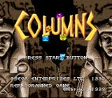 Columns SNES Title Screen