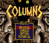 Columns SNES Game Menu