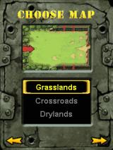 Fieldrunners J2ME Map selection