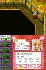 InuYasha: Secret of the Divine Jewel Nintendo DS Janis is the main character. This is her stats screen (relatively late in the game).