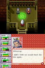 InuYasha: Secret of the Divine Jewel Nintendo DS Encounter with two NPCs.