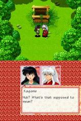 InuYasha: Secret of the Divine Jewel Nintendo DS InuYasha and Kagome arguing, as usual.