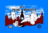 Yes Prime Minister: The Computer Game Amstrad CPC Title screen