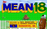 Mean 18 Amiga Title screen