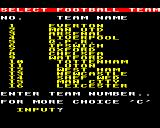 League Challenge BBC Micro Team selection