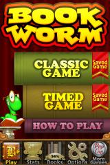 Bookworm Deluxe iPhone Main Menu