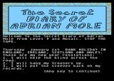 The Secret Diary of Adrian Mole Aged 13¾ Atari 8-bit Listing his New Years resolutions.