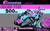 Grand Prix 500 cc DOS Title screen