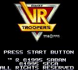 Saban's VR Troopers Game Gear Title screen