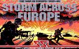Storm Across Europe Amiga Title screen