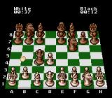 The Chessmaster SNES Black's queen takes my pawn.