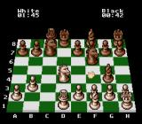 The Chessmaster SNES Black's king has castled.
