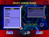 World League Soccer '98 Windows Team selection