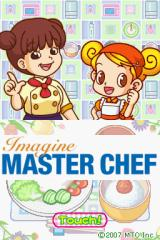Imagine: Master Chef Nintendo DS Title screen.