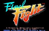 Final Fight Atari ST Title screen