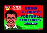 Brian Clough's Football Fortunes Amstrad CPC Title screen