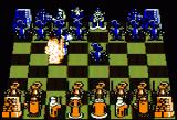Battle Chess Apple II Pawn getting torched