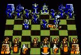Battle Chess Apple II Queen gets knocked down...